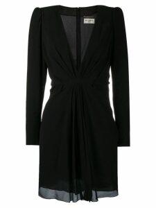 Saint Laurent draped V-neck dress - Black