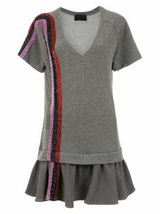 Andrea Bogosian embroidered dress - Grey