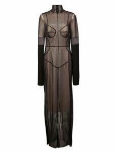 Vera Wang long tulle layer dress - Black