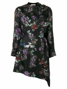 Each X Other Floral Printed Asymmetric Dress - Black