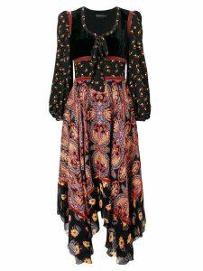 Etro long paisley dress - Black