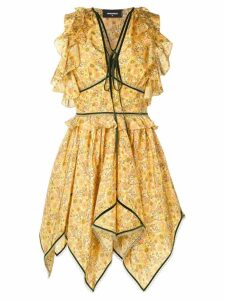 Dsquared2 flared asymmetric dress - Yellow