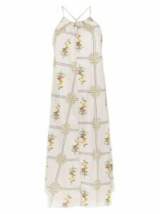 Osklen midi printed dress - White