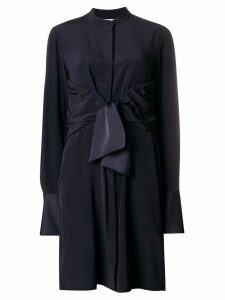 Victoria Victoria Beckham tie waist shirt dress - Blue