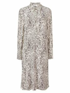 Chloé abstract print silk dress - NEUTRALS