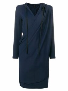 Unravel Project wrap hoodie dress - Blue