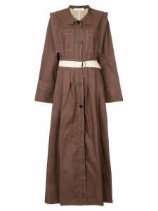 Walk Of Shame belted shirt dress - Brown