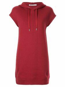 T By Alexander Wang dence fleece hoodie dress - Red