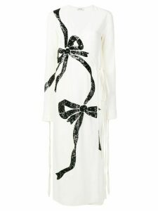 Attico embellished bow dress - White