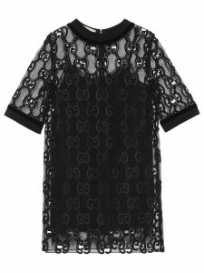 Gucci GG leather macramé dress - Black