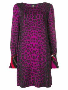 Cavalli Class animal print shift dress - Pink