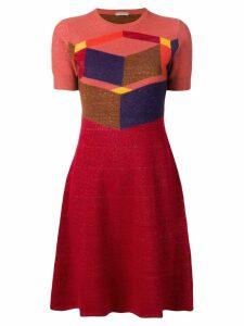 Bottega Veneta cubic intarsia knitted dress - Red