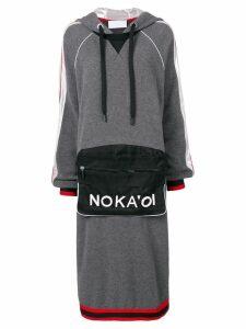 No Ka' Oi hoodie midi dress - Grey