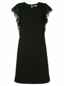 Guild Prime leopard print trim dress - Black