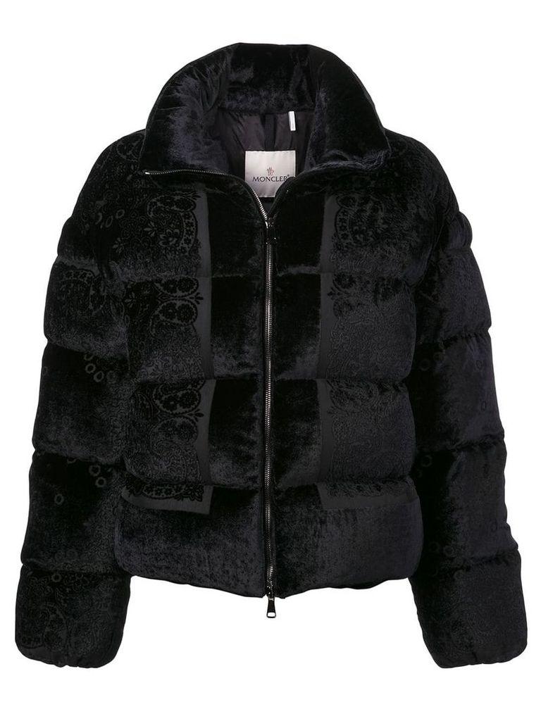 Moncler floral puffer jacket - Black