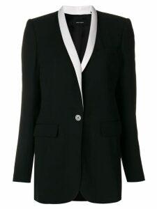 Isabel Marant contrast lapel blazer - Black