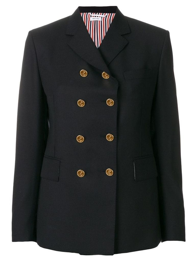 Thom Browne Solid Wool Sport Coat - Blue