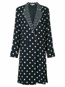 Layeur polka dot longline jacket - Black