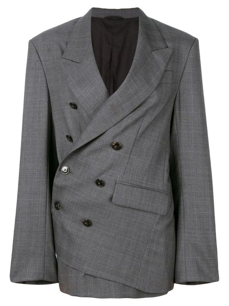 A.F.Vandevorst tailored wrap blazer - Grey