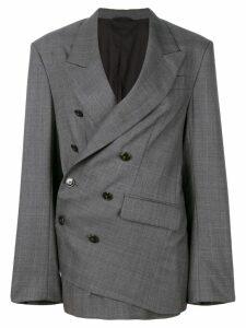A.F.Vandevorst tailored wrap blazer - Grey