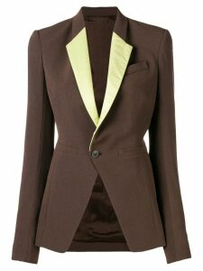 Rick Owens single button blazer - Brown