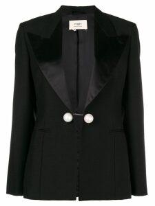 Ports 1961 silk-lined open front jacekt - Black