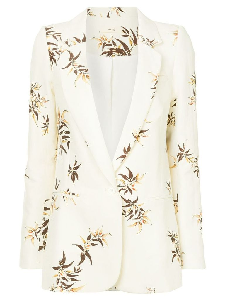 Matin Madryn Bamboo Print Suit Jacket - Neutrals