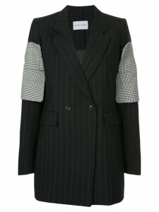 Strateas Carlucci striped plated cuff blazer - Black