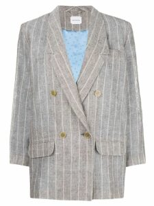 Magda Butrym double breasted linen blazer - Grey