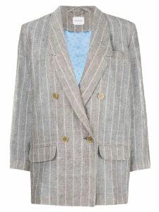 Magda Butrym double breasted linen blazer - Grey