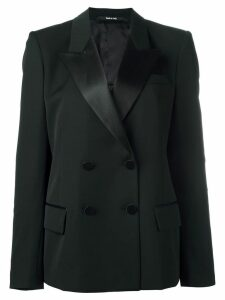 Maison Margiela satin lapel blazer - Black