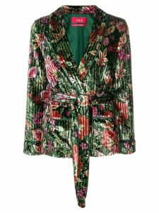 F.R.S For Restless Sleepers floral velvet blazer - Green