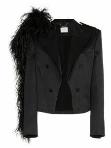 Magda Butrym lubec silk blazer - Black