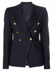 Tagliatore lapel detail blazer - Blue