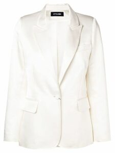 Styland single-breasted blazer - White
