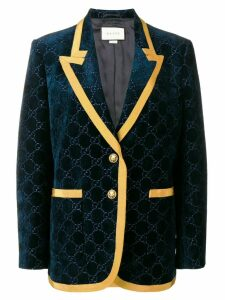 Gucci velvet style blazer - Blue