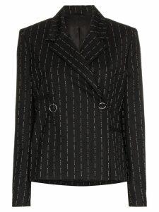 1017 ALYX 9SM pinstripe wool blazer - Black