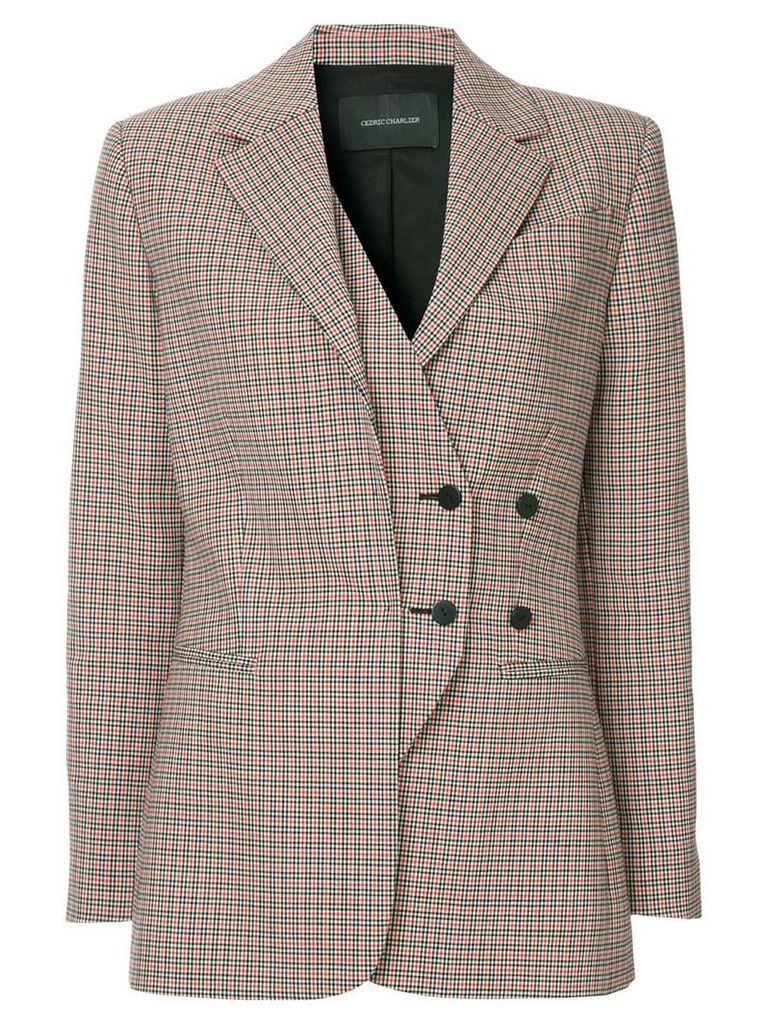Cédric Charlier off-centre button blazer - Multicolour