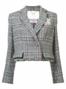 Adam Lippes tweed fitted blazer - White