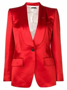 Tom Ford stitching detail blazer - Red