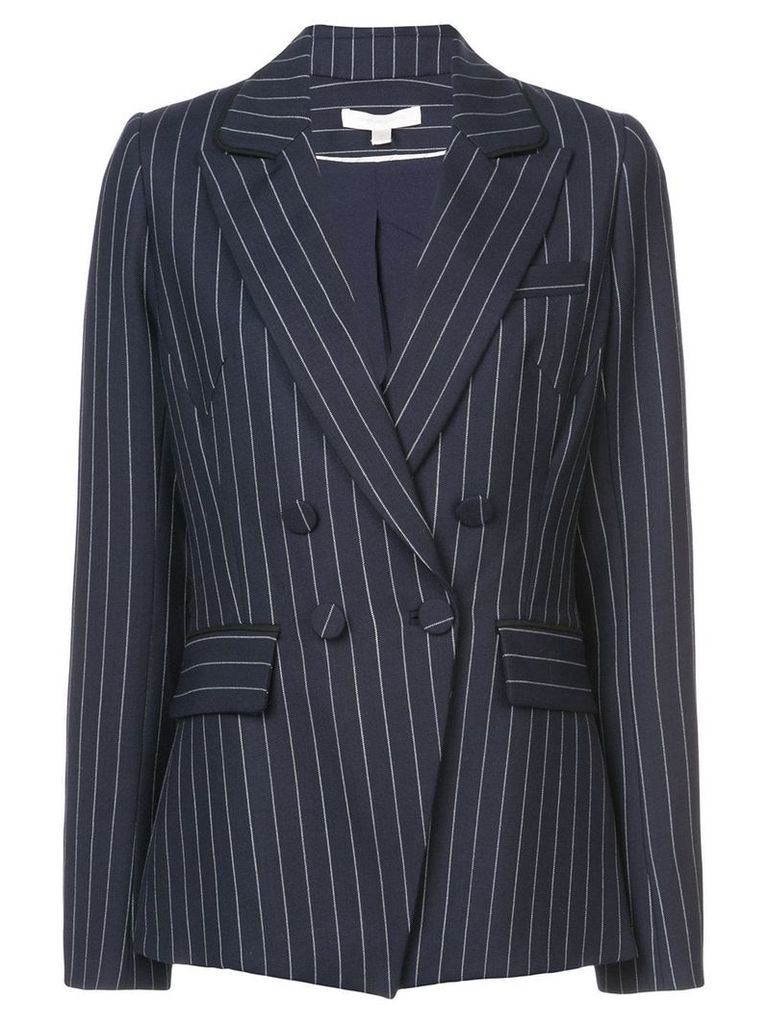 Jonathan Simkhai pinstripes structured blazer - Blue