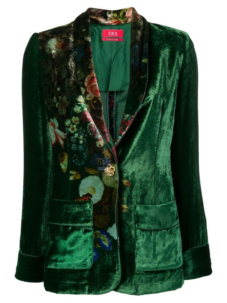 F.R.S For Restless Sleepers floral print blazer - Green