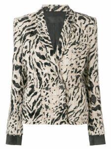 Haider Ackermann leopard pattern blazer - Neutrals
