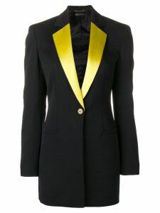 Versace contrasting lapels blazer - Black