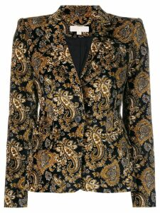Michael Michael Kors fitted paisley blazer - Black