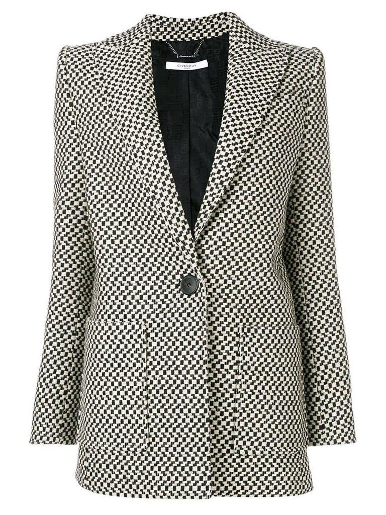 Givenchy deep V-neck blazer - Black