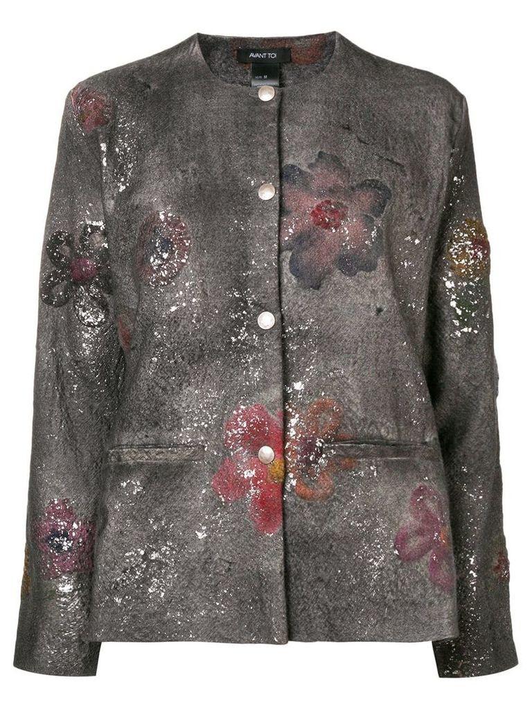 Avant Toi paint splatter jacket - Grey