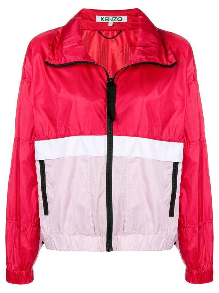 Kenzo logo windbreaker jacket - Red