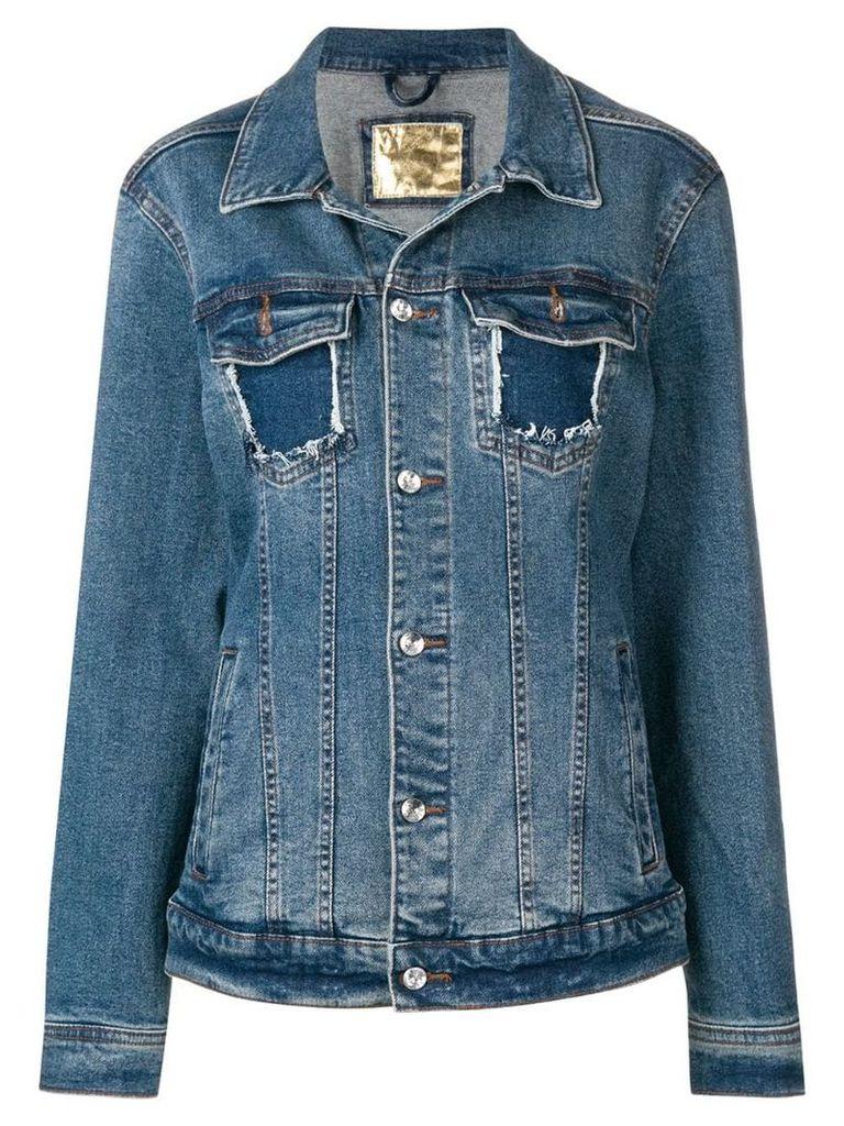 Loulou embellished back denim jacket - Blue