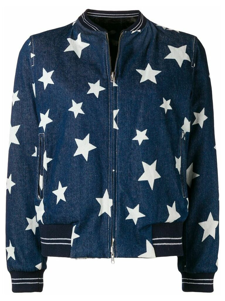 Liska star print denim jacket - Blue